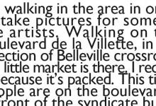 Livraison 14 // Belleville