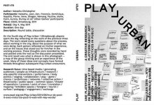 Play>Urban revue n°1 // HEAR Strasbourg